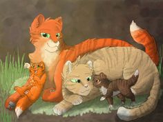 Firestar and sandstorm kits squirrelflight and leafpool