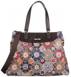 Oilily women's purse Abbey Tiles shopper mustard shoulder bag new #Oilily #ShopperreusableBag #TwoStraps