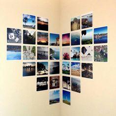 Painel de fotos, Bela ideia! Photos on the wall, good idea.