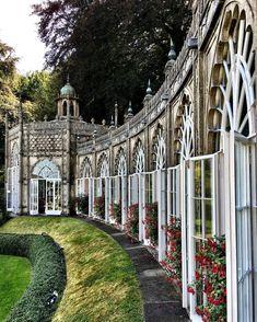 England - The wonderful curved orangery at Sezincote House and gardens. Cotswolds - Englishcountryside - England - Sezincote