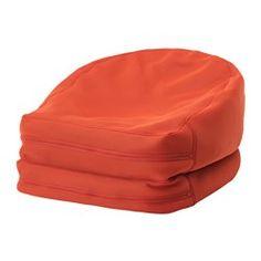 IKEA - BUSSAN, Sitzsack drinnen/draußen, orange, , Vielseitig benutzbarer Sitzsack - gefaltet ein gemütlicher Sessel, ausgebreitet ein bequemer Liegestuhl.Für drinnen und draußen geeignet.Leicht sauberzuhalten, da der Bezug maschinenwaschbar ist.