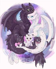 ▪Family Portrait▪ Long time I wanted to draw this, so finally. ▪Family Portrait▪ Long time I wanted to draw this, so finally. Cute Disney Drawings, Cool Drawings, Cute Animal Drawings, Httyd Dragons, Cute Dragons, Cute Disney Wallpaper, Cartoon Wallpaper, Dragon Wallpaper Iphone, Night Fury Dragon
