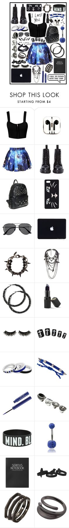 """""""bluh"""" by cupa1213 ❤ liked on Polyvore featuring PhunkeeTree, Dr. Martens, Talula, H&M, Joomi Lim, River Island, Barry M, Boohoo, Principles by Ben de Lisi and Tai"""