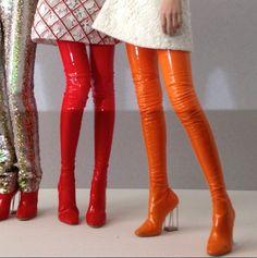 Latex Boots - Dior Couture SS15  (via crfashionbook)