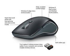 Logitech Wireless Mouse M560, black