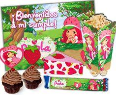 Kit Imprimible Frutillita Para Cumpleaños Super Candy Bar - $ 39,99 en Mercado Libre