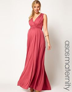 ASOS Maternity Exclusive Maxi Dress In Grecian Drape-Actually kinda impressed by this maternity dress