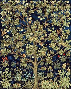 William Morris Tree of Life Detail from Tapestry Counted Cross Stitch Chart Cross Stitch Books, Cross Stitch Art, Cross Stitch Samplers, Counted Cross Stitch Patterns, Cross Stitch Designs, Cross Stitching, Cross Stitch Embroidery, Stitching Patterns, Hand Embroidery
