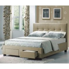 Sydney Fabric Upholstered Storage Bed in Cafe by Emerald Home