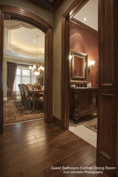 Hallway leading into Formal DIning Room in Kansas Home http://www.kurtjohnsonphotography.com/