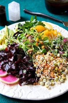 Sprout Salad with Ginger Caraway Balsamic Vinaigrette