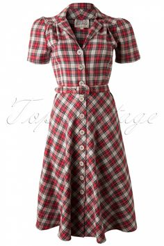 The Seamstress of Bloomsbury - 40s Lisa Dress Tartan
