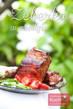 Żeberka w miodzie - #przepis na danie z #grill.a  http://pozytywnakuchnia.pl/zeberka-w-miodzie/  #kuchnia #obiad