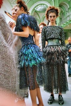 Chanel spring 2014 couture backstage