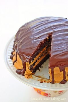 Chocolate Cake with Dulce de Leche Frosting