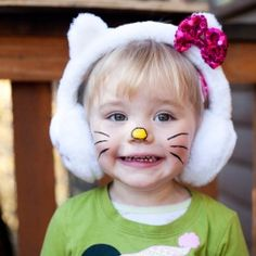 Here is a very cute and easy costume idea for your little girl.