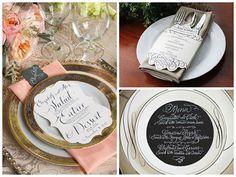 ideas para un men de boda original y bonito