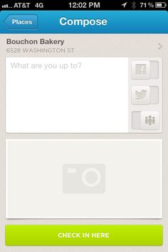 Checkin Form from foursquare › PatternTap