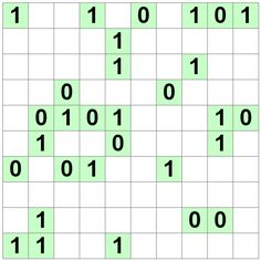 Number Logic Puzzles: 20884 - Binary size 4