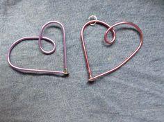 Recycled knitting needle heart-Bur Oak Studio-pendant, pin  https://www.etsy.com/listing/174372426/knitting-needle-heart