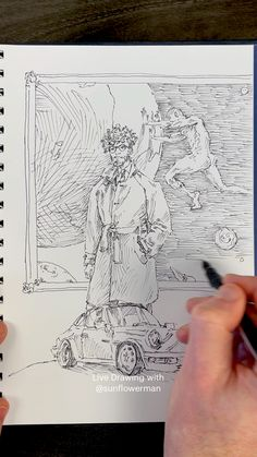 Live Drawing with Sunflowerman