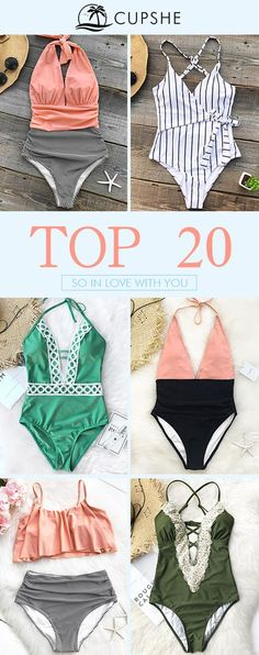 Once again, Cupshe brings you a collection of hot-selling bikinis. Take a look if you are out in the sun! Either you want to be straight-forward or conservative, elegant or classic, we have everything you want! FREE shipping~