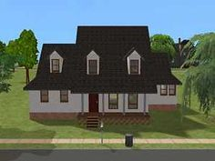 Mod The Sims - $19,669 - cute, classic starter - 2 bd 2 ba downstairs, room for more upstairs