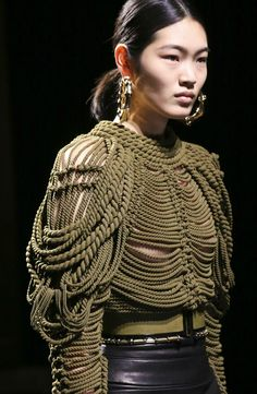 Tie one on! #ZapposCouture couture fashion knitted rope top
