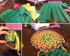 How to Make Tee-Braided Rug - DIY & Crafts - Handimania