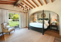 Love the alcove with the bed