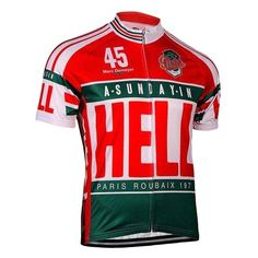 Retro Paris Roubaix Sunday in Hell Cycling Jersey