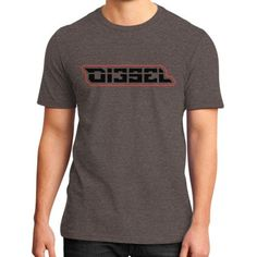 Di3seL Logo(Red Variant) District T-Shirt (on man)