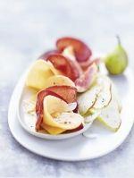 Gemarineerde bresaola met peer vijg en meloen