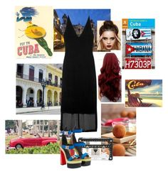 """""""Day 1: Night Out"""" by jurneefade ❤ liked on Polyvore featuring Louis Vuitton, Dion Lee and Versace"""