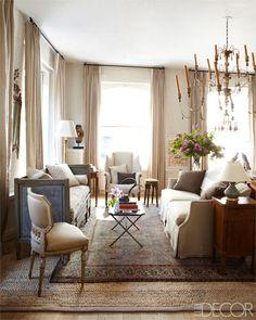 A SoHo loft living room