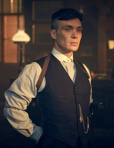 "Cillian Murphy as ""Tommy Shelby"" in Peaky Blinders series 2, by photographer Robert Viglasky."