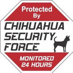 Amazon.com: Chihuahua Dog Yard Sign Security Force Chihuahua: Pet Supplies