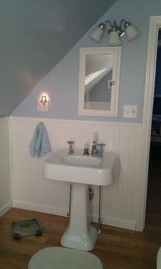 ... original pedestal sink and pedestal bathtub. They came out beautiful