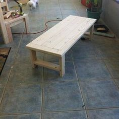 diy outdoor living space, home decor, outdoor furniture, outdoor living, MY impromptu coffee table No plans for this one Just the extra wood I had left over