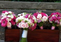 white, pink and green floral arrangement with hydrangeas