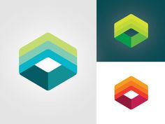 Could use icons / symbols to show working colour schemes - Alto by Aol by Mackey Saturday Logo Design Love, Web Design, Design Color, Cubes, Three Logo, Design Tattoo, Abstract Logo, Display Design, Shop Logo