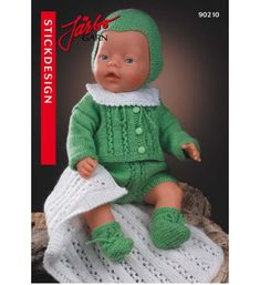 Baby Born Clothes, Preemie Clothes, Knitting Dolls Clothes, Crochet Baby Clothes, Crochet Doll Dress, Knitted Dolls, Doll Dress Patterns, Knit Patterns, Knitting For Kids