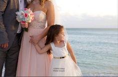 Pink wedding dress, our beach wedding in Key West, FL
