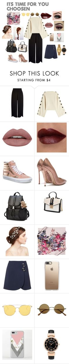 """Casual or Formal?"" by bngendra on Polyvore featuring Petar Petrov, ASAP, Vans, Jennifer Behr, TIBI, Casetify, Rolex, formal, casualoutfit and twostyle"