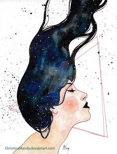 Galaxy by ChristinaMandy.deviantart.com on @DeviantArt