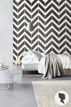 Chevron Pattern Self Adhesive Wallpaper D076 by Livettes on Etsy