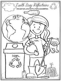 Earth Day reflection freebie.