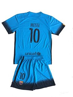 4b5811f79 NEW Fc Barcelona Messi Third Away Blue Youths Football Soccer Kids Jersey    Short   Socks