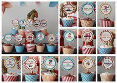 Vintage Circus Party Cupcakes  #circus #cupcakes