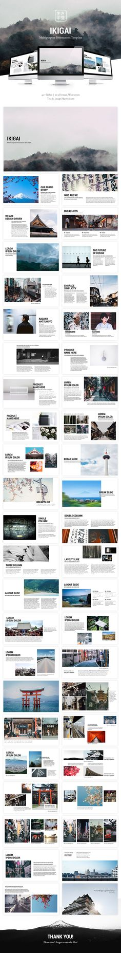 Ikigai #Multipurpose Powerpoint Template - #PowerPoint Templates Presentation Templates